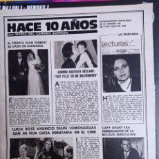 Coleccionismo de Revistas y Periódicos: LUCIA BOSE JUAN GISBERT AURORA BAUTISTA MIGUEL BOSE PAOLA DOMINGUIN CARY GRANT. Lote 270907703
