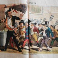 Coleccionismo de Revistas y Periódicos: EL MOTÍN - PERIÓDICO SATÍRICO SEMANAL. Nº 46 , 25 NOVIEMBRE 1883. Lote 270973933