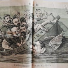 Coleccionismo de Revistas y Periódicos: EL MOTÍN - PERIÓDICO SATÍRICO SEMANAL. Nº 46 SUP , 29 NOVIEMBRE 1883. Lote 270973988