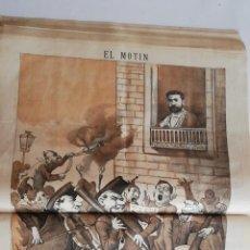 Coleccionismo de Revistas y Periódicos: EL MOTÍN - PERIÓDICO SATÍRICO SEMANAL. Nº 47 SUPLEMENTO , 6 DICIEMBRE 1883. Lote 270974108
