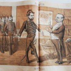 Coleccionismo de Revistas y Periódicos: EL MOTÍN - PERIÓDICO SATÍRICO SEMANAL. Nº 48 SUPLEMENTO , 13 DICIEMBRE 1883. Lote 270974293