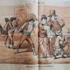 Coleccionismo de Revistas y Periódicos: EL MOTÍN - PERIÓDICO SATÍRICO SEMANAL. Nº 49 SUP , 20 DICIEMBRE 1883. Lote 270974433
