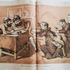 Coleccionismo de Revistas y Periódicos: EL MOTÍN - PERIÓDICO SATÍRICO SEMANAL. Nº 50 SUPLEMENTO, 27 DICIEMBRE 1883. Lote 270974653