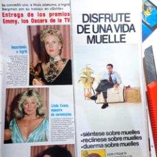 Coleccionismo de Revistas y Periódicos: LINDA EVANS JOAN COLLINS PIA LINDSTROM. Lote 271123463