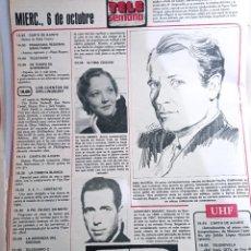 Coleccionismo de Revistas y Periódicos: HUMPREY BOGART JOEL MCREA SYLVIA SIDNEY. Lote 271123758