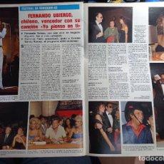 Coleccionismo de Revistas y Periódicos: FERNANDO UBIERGO FESTIVAL DE BENIDORM. Lote 271124263