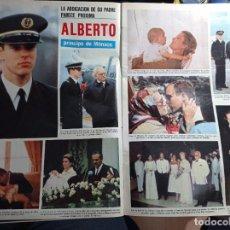 Coleccionismo de Revistas y Periódicos: ALBERTO DE MONACO GRACE KELLY CAROLINA ESTEFANIA. Lote 271125288