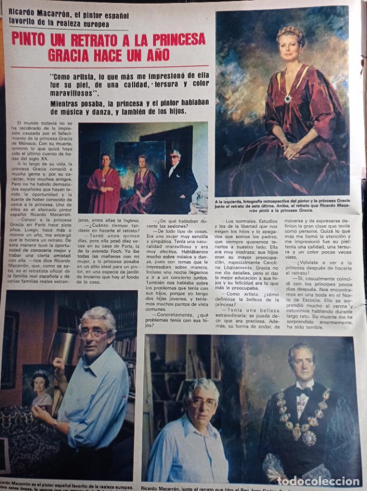RICARDO MACARRON Y EL RETRATO DE GRACE KELLY (Coleccionismo - Revistas y Periódicos Modernos (a partir de 1.940) - Otros)