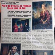 Coleccionismo de Revistas y Periódicos: RICARDO MACARRON Y EL RETRATO DE GRACE KELLY. Lote 271125913