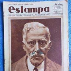 Coleccionismo de Revistas y Periódicos: ESTAMPA. REVISTA GRÁFICA. 5 MARZO 1932. Nº 217. MACIÁ, GARIBALDI, A. ADAMUZ, JOSEFINA CARABIAS. Lote 271371278