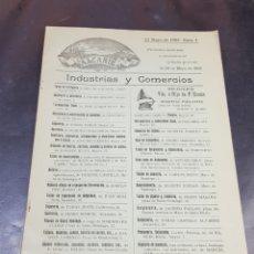 Coleccionismo de Revistas y Periódicos: REVISTA INDUSTRIAS Y COMERCIOS ALCAÑIZ 1909 REVISTA NÚMERO 4 MUY BUEN ESTADO. Lote 271383818
