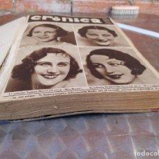 Collectionnisme de Revues et Journaux: TOMO CON 26 NUMEROS DE CRONICA - REVISTA DE LA SEMANA - DE 28 DE MAYO A 10 DE DICIEMBRE 1933. Lote 271704973