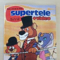 Coleccionismo de Revistas y Periódicos: SUPERTELE 225 AÑO 1984 LA VUELTA AL MUNDO DE WILLY FOG. Lote 272164053