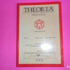 Coleccionismo de Revistas y Periódicos: THEORIA, REVISTA DE TEORÍA, HISTORIA Y FUNDAMENTOS DE LA CIENCIA, VOL. 12, NÚMERO 30, 1997. Lote 273976628