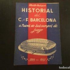 Coleccionismo de Revistas y Periódicos: BOLETÍN HISTORIAL DEL C.F. BARCELONA A TRAVÉS DE SUS CAMPOS DE JUEGO ALBERTO MALUQUER 1899 1957. Lote 273978663