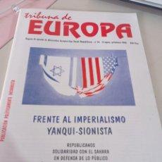 Colecionismo de Revistas e Jornais: REVISTA TRIBUNA DE EUROPA, NÚM. 14 2ª ÉPOCA, PRIMAVERA 1998 EDITA. ALTERNATIVA EUROPEA. REF UR EST. Lote 275036648