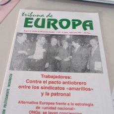 Colecionismo de Revistas e Jornais: REVISTA TRIBUNA DE EUROPA, NÚM. 10 2ª ÉPOCA, MAYO 1997 EDITA ALTERNATIVA EUROPEA. REF UR EST. Lote 275037043
