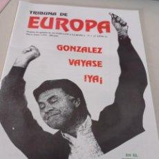 Colecionismo de Revistas e Jornais: REVISTA TRIBUNA DE EUROPA, NÚM. 1 2ª ÉPOCA, ENERO 1995 EDITA ALTERNATIVA EUROPEA. REF UR EST. Lote 275037778