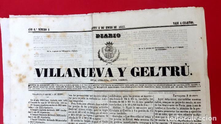 Coleccionismo de Revistas y Periódicos: EL CORREO UNIVERSAL - 1854 - AÑO 1 Nº 1 (Muy raro doble diario) - Foto 4 - 275597518