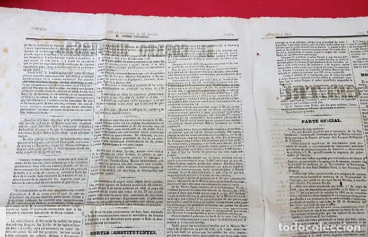 Coleccionismo de Revistas y Periódicos: EL CORREO UNIVERSAL - 1854 - AÑO 1 Nº 1 (Muy raro doble diario) - Foto 5 - 275597518