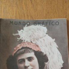 Coleccionismo de Revistas y Periódicos: MUNDO GRAFICO N °30. 1912. MUERTE DE MENENDEZ PELAYO - MUERTE DEL MIZZIAN - MACHAQUITO REAPARICION. Lote 275718948