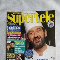 Coleccionismo de Revistas y Periódicos: REVISTA SUPERTELE 20 MARILYN MONROE ARGUIÑANO TVE CAMBIA MUNDO DE FIERAS POR ABIGAIL CONCHA VELASCO. Lote 276161998