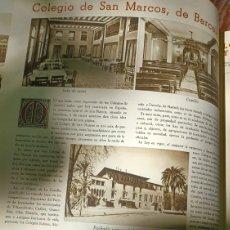 Coleccionismo de Revistas y Periódicos: COLEGIO DE SAN MARCOS DE BARCELONA. PAGINA. AÑOS 40 .5 FOTOS. Lote 276286363