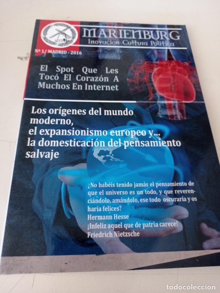 BOLETIN MARIENBURG INNOVACION CULTURA POLITICA Nº 1 MADRID 2016 REF. UR EST . (Coleccionismo - Revistas y Periódicos Modernos (a partir de 1.940) - Otros)