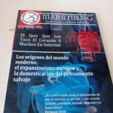 Coleccionismo de Revistas y Periódicos: BOLETIN MARIENBURG INNOVACION CULTURA POLITICA Nº 1 MADRID 2016 REF. UR EST .. Lote 276537953
