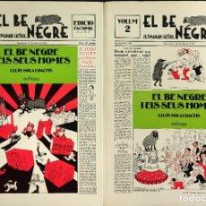 Coleccionismo de Revistas y Periódicos: EDICIO FACSIMIL - 2 TOMOS GRAN FORMATO - EL BE NEGRE -. Lote 276617063