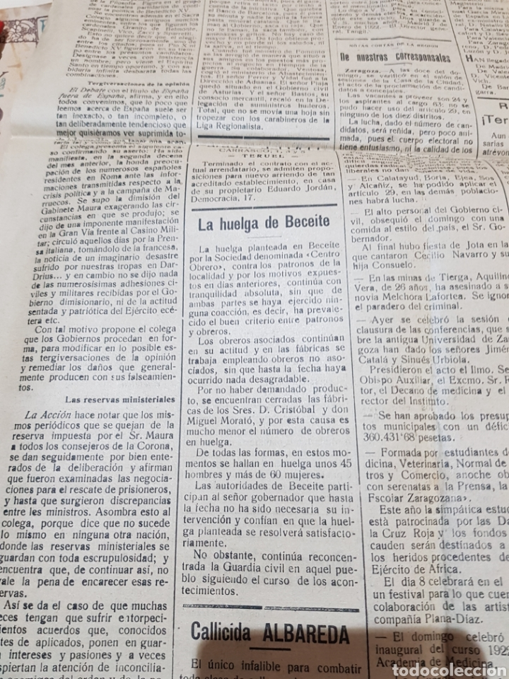 Coleccionismo de Revistas y Periódicos: Diario independiente la provincia Teruel 1922 - Foto 2 - 276667023