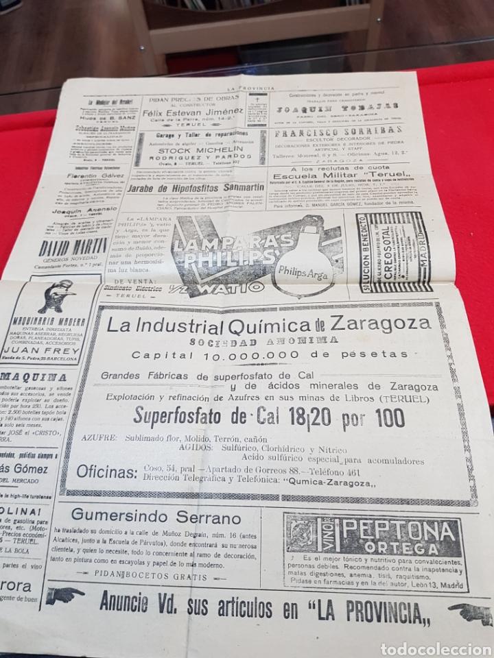 Coleccionismo de Revistas y Periódicos: Diario independiente la provincia Teruel 1922 - Foto 3 - 276667023