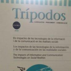 Coleccionismo de Revistas y Periódicos: TRIPODOS. LLENGUATGE-PENSAMENT-COMUNICACIÓ EXTRA 2000. Lote 276795573