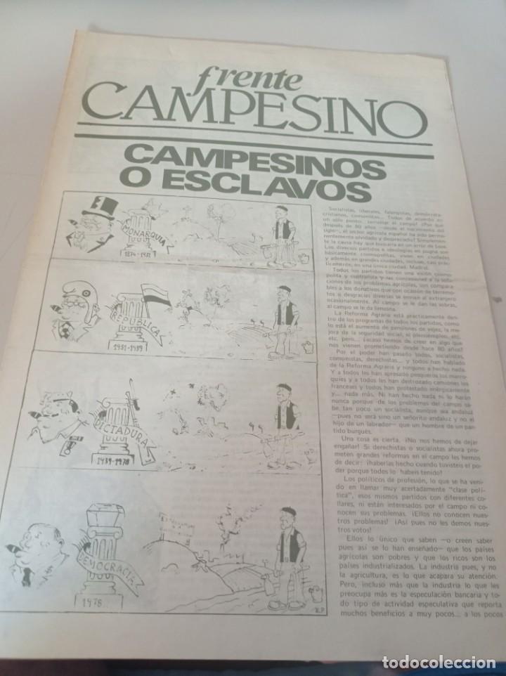 FRENTE CAMPESINO,SEPARATA DE LA REVISTA CEDADE Nº 113 REF. UR MES (Coleccionismo - Revistas y Periódicos Modernos (a partir de 1.940) - Otros)