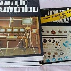 Coleccionismo de Revistas y Periódicos: LOTE DE 11 REVISTAS MUNDO ELECTRONICO 1973 INCLUYE UN ESPECIAL. Lote 276973538