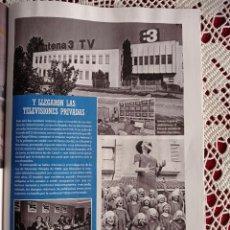 Coleccionismo de Revistas y Periódicos: NACIMIENTO DE ANTENA 3 T TELE 5 MUSEO DE CHARLIE RIVEL. Lote 277041828
