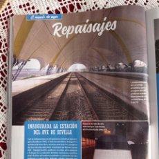 Coleccionismo de Revistas y Periódicos: INAGURACION DEL AVE. Lote 277041868
