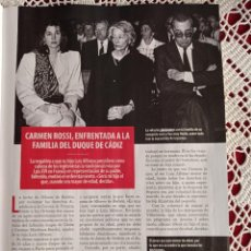 Coleccionismo de Revistas y Periódicos: CARMEN MARTINEZ BORDIU ROSSI. Lote 277043133