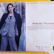 Coleccionismo de Revistas y Periódicos: ANUNCIO ANTONIO POZUELO EL CORTE INGLES. Lote 277043618