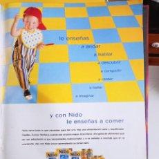 Coleccionismo de Revistas y Periódicos: ANUNCIO NESTLE NIDO ALIMENTOS INFANTILES. Lote 277051058