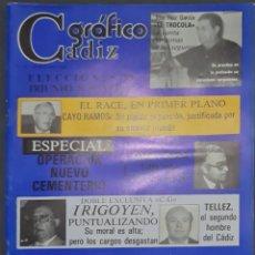 Coleccionismo de Revistas y Periódicos: CÁDIZ GRÁFICO Nº 145. 30 OCTUBRE 1982. LEER:. Lote 277096698