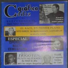 Coleccionismo de Revistas y Periódicos: CÁDIZ GRÁFICO Nº 145. 30 OCTUBRE 1982. LEER:. Lote 277097518