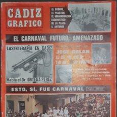 Coleccionismo de Revistas y Periódicos: CÁDIZ GRÁFICO Nº 153. 16 ABRIL 1984. LEER:. Lote 277098258