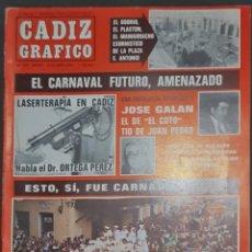Coleccionismo de Revistas y Periódicos: CÁDIZ GRÁFICO Nº 153. 16 ABRIL 1984. LEER:. Lote 277098493