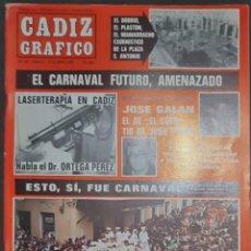 Coleccionismo de Revistas y Periódicos: CÁDIZ GRÁFICO Nº 153. 16 ABRIL 1984. LEER:. Lote 277098643