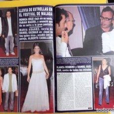 Coleccionismo de Revistas y Periódicos: BLANCA ROMERO MONICA CRUZ MARIA ADANEZ FESTIVAL DE MALAGA ELSA PATAKY MABEL LOZANO. Lote 277160593