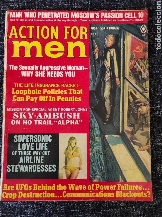 ACTION FOR MEN MAGAZINE VOL. 13 Nº 4 JULY 1969 EDICION AMERICANA (Coleccionismo - Revistas y Periódicos Modernos (a partir de 1.940) - Otros)