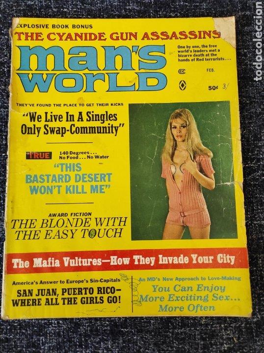 MAN'S WORLD MAGAZINE VOL. 16 Nº 1 FEBRUARY 1970 EDICION AMERICANA (Coleccionismo - Revistas y Periódicos Modernos (a partir de 1.940) - Otros)