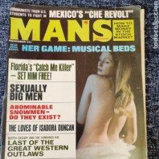 Coleccionismo de Revistas y Periódicos: MANS MAGAZINE VOL. 17 Nº 11 NOVEMBER 1969. Lote 277172713