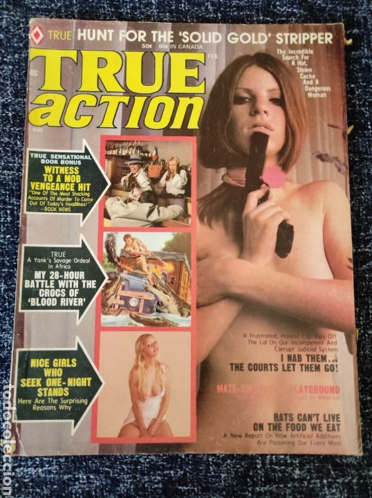 TRUE ACTION MAGAZINE VOL. 19 Nº 1 FREBUARY 1974 EDICION AMERICANA (Coleccionismo - Revistas y Periódicos Modernos (a partir de 1.940) - Otros)